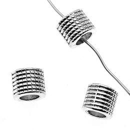 Charmes de l'espace en Ligne-10pcs alliage espace perles en vrac argent antique perles d'espace pour collier bracelet fabrication de bijoux charme entretoise 7x8x8mm