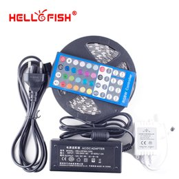 Wholesale Fishing Controller - Hello Fish 5m 300 LED 5050 LED Strip light DC 12V RGBW Tape With 12V 5A Power Adapter &RGBW Controller