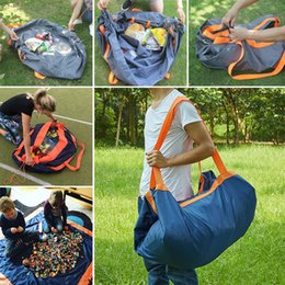 Wholesale 325 black - Multifunction Cushion Outdoor Moisture Proof Waterproof Carpet Travel Camping Mat Beach Mat Picnic Blanket Storage Bag WX9-325