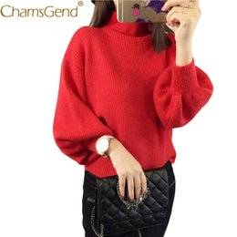 Wholesale Turtleneck Top Long Sleeve - 11.11.2017 Fashion Winter Cotton Women Sweaters Turtleneck long Sleeve Pullovers Knitted Sweaters Female Jumper Tops 66#
