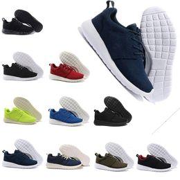 Zapatos de correr para mujer online-2018 Venta caliente High top Run Shoes Red Fashion Men Womens Sports Running London Olympic Runs Shoes Walking Sporting Shoes Sneakers 36-44