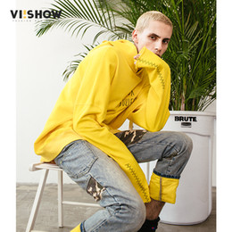 2019 зубочистка VIISHOW New Arrival Hoodies Men Sweatshirt  Clothing Hooded Male Tracksuit Spring Casual Solid Yellow Tooth Print WD1099181 скидка зубочистка