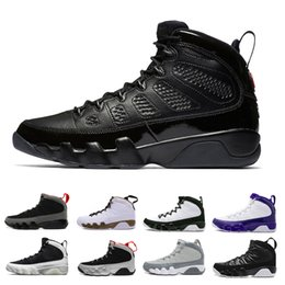 Wholesale Cheap Army Men - Cheap 9 9s basketball shoes men Bred LA Anthracite Black white Red the spirit 2010 RELEASE Tour Yellow PE sports Sneakers size 41-47