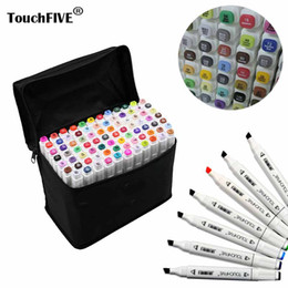 Wholesale Touch Marker Colors - Touchfive Painting Art Mark Pen Alcohol Marker Pen Cartoon Graffiti Sketch Markers touch twin Drawing manga art supplies