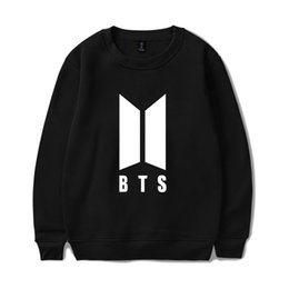 Wholesale Bts Album - BTS LOVE YOURSELF Women Capless Sweatshirts K-pop Fans Capless Sweatshirt New Album DNA Sweatshirt Autumn Winter Clothes 4XL