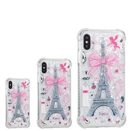 Téléphone tour eiffel en Ligne-Pour iPhone 8 Plus iPhone X Coque Arrière Coque TPU Coque Protection Téléphone pour Samsung S8 Tour Eiffel