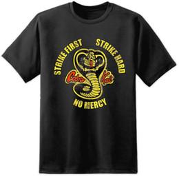 camisa del dragón del fu del kung Rebajas KARATE KID COBRA KAI RETRO KUNG FU BRUCE LEE CHUCK NORRIS DRAGÓN HANS T SHIRT Divertido envío gratis Unisex Camiseta casual