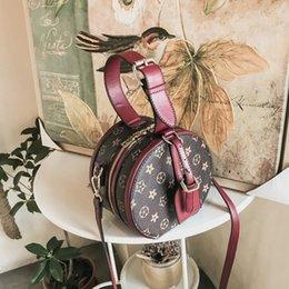 Wholesale Cross Backpack - 2018 Luxury designer 3colors circular Handbags lady girl backpack backpacks Women Bags Fashion Shoulder high quality PU wallet 180127002