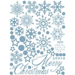 2019 decorazioni del camino 1 PC Adesivi per vetrine di Natale fai-da-te Decorazioni natalizie per camino di Natale Adesivi murali natalizi Accessori per la casa decorazioni del camino economici