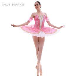 tutus profesionales Rebajas Impresionante Pre-Professional Ballet Dance Tutu Dress Disfraces para niñas y mujeres Performance Tutus 7 colores disponibles BLL015