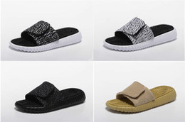 Wholesale Hotel Health - Outdoor new men women 350 casual shoes slippers soft bottom massage fitness health slippers black and white size:36-44