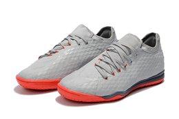 Wholesale Li Ning Sneakers - 2017 2018 Kids Soccer Shoes gray Hypervenom X designer shoes football Sneakers Finale II sports shoes