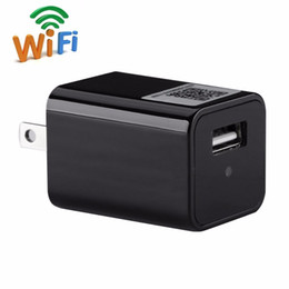 Wholesale Green Wall Charger - 1080P WIFI USB Adapter Mini Camera Wall Charger Covert Nanny Cam Support Android iOS View Video Recorder Motion Dection Alarm