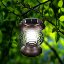 Wholesale outdoor lighting control - LED Solar Mosquito Killer Lamp Waterproof Solar Lawn Light Insect Killer Zapper Lamp Pest Control Outdoor Garden Landscape Light