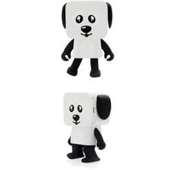 Новый многофункциональный танцы робот Bluetooth спикер карты площади щенок портативный беспроводной игрушка аудио от Поставщики детские игрушки для мальчиков