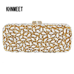 3104db2e4709a Gold Red long clutch chain bag Women Luxury Crystal Party Purse Rhinestones  Bling Clutch purse sparkly lady evening bag SC155