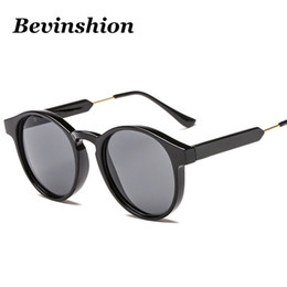 Сексуальные черные женские очки онлайн-Classic Vintage Round Sunglasses Women Simple Retro Sun Glasses Black Grey Lens Chic Legs Wrap Sexy Brand Designer Shades Oculos