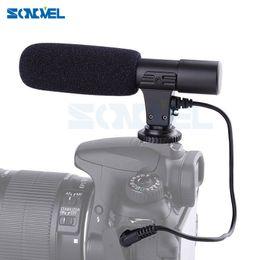 Wholesale Eos 5d Mark - Mic-01 Professional Shotgun Condenser Camera Microphone for Canon EOS M2 M3 M5 M6 800D 760D 750D 77D 80D 5Ds R 7D 6D 5D Mark IV