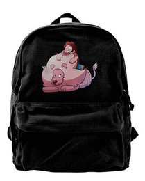 lion canvas print Promo Codes - Steven Universe Steven And Lion Canvas Shoulder Backpack Cute Backpack For Men & Women Teens College Travel Daypack Black