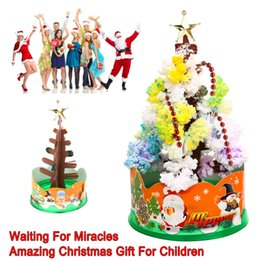 Wholesale Paper Xmas Trees - Magic Growing Paper Interactive Tree Magical Grow Trees Xmas Kids Toy Gift Xmas Tree Arbre Magique Christmas Decoration
