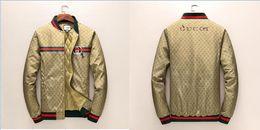 Wholesale Men Luxury Coats - New Fashion Casual Outdoor Tiger Jungle Luxury Down Coat Sunproof Windproof Waterproof Men Women Luxury Brand G Zipper Sports Skin Coat