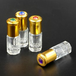 Wholesale Wholesale Glass Bottles Engraved - Capacity 3ml 6ml free shipping 50pcs lot roll glass Perfume bottle, Roller bottles,empty perfume bottles