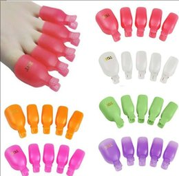 clips de pied Promotion 5 Pcs Pied En Plastique Pied Nail Art Soak Off Cap Clip UV Gel Gel Remover Wrap Set Pédicure Soak Off Toe Clou Clip KKA5000