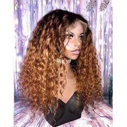 cheveux de bébé en dentelle chinoise Promotion Ombre Brun Full Lace Perruques de Cheveux Humains pour Balck Femmes Brésilienne Remy Cheveux 1b / 30 # Pré Plumée Perruques Avant De Dentelle