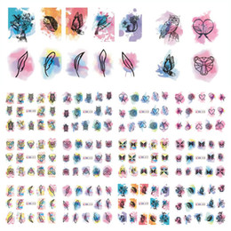 Совиное искусство ногтей онлайн-12 Patterns Big Sheet Water Decal Owl Butterfly Dreamcatcher Decals Manicure Nail Art Transfer Sticker