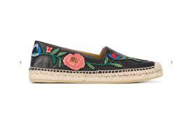 Wholesale pump weaves - summer women floral flats Weaved heeled flower applique Mules fashion shoes women runway