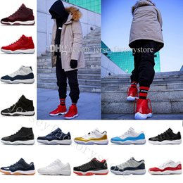 Wholesale cheap gum - Cheap 11 Basketball Shoes Women Men Low Metallic Gold Closing Ceremony Navy Gum Varsity Red concord Sports Sneakers Running Shoes US 5.5-13