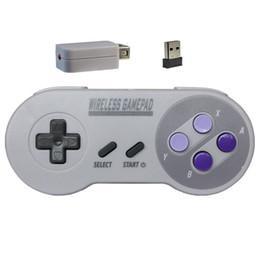 2019wireless USB 2 in 1 NES / SNES 2.4G Gaming Controller per Nintendo Classic Game pad Accessori console remota- cheap usb gaming controller da controller di gioco usb fornitori