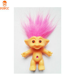 bambola di troll all'ingrosso Sconti Wholesale- Invia i loro bambini Regali di Natale Giocattoli Bambola brutta bambola troll 80 Bambola nostalgica 10cm alta elf capelli magici