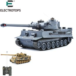 Wholesale Remote Controlled Electric Toy Tanks - 40Mhz RC Tank 1 20 RTR Germany Tiger 103 Remote Control Fighting Battle Tank with Musical and Flashing for Child Gift 99807