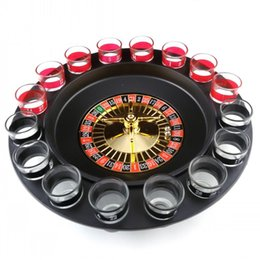 Wholesale Drink Games - Simple Russian Spinning Roulette Safety Easy To Carry Wine Glass Game Kit For KTV Pub Drinking Roulette Set Top Quality 19 5gb B