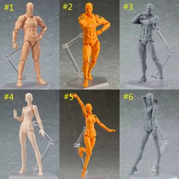 Wholesale action color - SHF Figma Man Female Skin Color Archetype He She Ferrite Figma Movable Figma pvc Action Figure Model Toys Doll for Collectible B