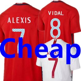 Wholesale cheap thailand jerseys - Wholesale Chile Soccer Jersey World Cup 2018 ALEXIS VIDAL MEDEL AAA Top Thai National Team Home Red Away Cheap Thailand Football Shirt 2019