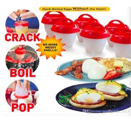 Wholesale Eggs Cooker - Silicone Egglettes Egg Cooker Hard Boiled Eggs without the Shell For Egg Tools Pack of 6pcs c391