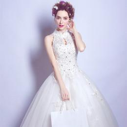 2018 Wedding Dress White Lace Elegant Sparkly Floor Length Ball Gown Gowns Appliques Princess Vestido De Noiva Abule