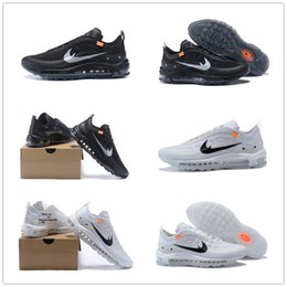Wholesale Icing Shoes - 2018 New Arriva Airs Cushion 97 Off The Ten X 10 OG Black Whites Ice Blue Running Shoes for Top quality 97s Outdoor Sports Sneakers EUR40-46