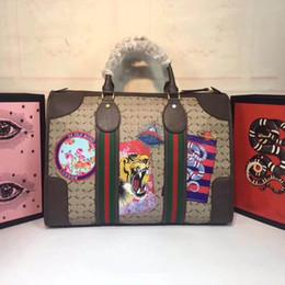 2019 modelos de sacos de viagem Sacos de Duffel moda Travel bag Tamanho Travel bag 42 * 29 * 16 cm saco de Viagem Ao Ar Livre Carta modelo de superfície 459311 modelos de sacos de viagem barato