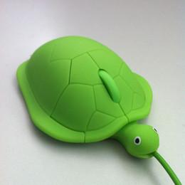 computer divertenti Sconti FFFAS Mini Crawl Cute Kawaii Wired Mouse 2.0 Usb 3D Tortoise Animal Computer Gamer Bella tartaruga Maus Regalo divertente Notebook