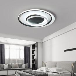araña para dormitorio sala de estar Rebajas Lámpara de iluminación para sala de estar dormitorio Lustre Rectángulo LED Lámpara de onda de techo AC85-265V lamparas de techo Lámpara moderna