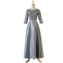 2018 elegante Cocktailkleider Neue Frauen Halbe Hülse Tee Länge Braut Formale Hochzeit Kleid Geburtstag Kleid von Fabrikanten