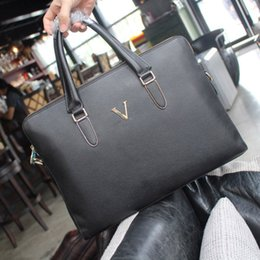 Wholesale Luxury Briefcases - Men Briefcases office or business dress totes bag High quality Luxury brands man classic style bags size 39*29*5 cm cm model 187562309