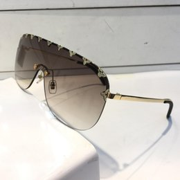Wholesale khaki coat women - Luxury 2377 Sunglasses For Women Fashion Oval Z2377E UV Protection Lens Coating Mirror Lens Frameless Color Plated Frame Come With Package
