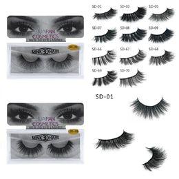 Nova marca huapan 3d cílios vison cílios desarrumado extensão do chicote do olho sexy cílios tira completa eye lashes 3001324 de