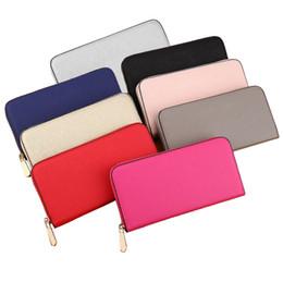 Wholesale Single Card Holder - 2018 box Hot! wholesale MICHAEL KALLT famous brand fashion single zipper cheap luxury designer women leather wallet lady ladies long purse