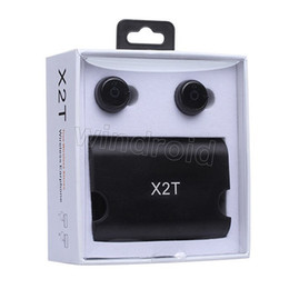 X2T TWS беспроводные наушники Близнецы Bluetooth наушники CSR4.Стерео наушника 2 с магнитным быстрым случаем коробки заряжателя для мобильного телефона самого дешевого 30pc от