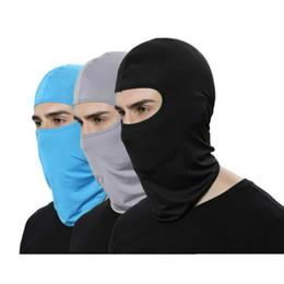sturmhaubenfarben Rabatt 17 Farben Lycra Soft Radfahren Gesichtsmaske Ski Neck Schutz Außen Balaclava Vollgesichtsmaske Ultradünne Atmungs Winddicht